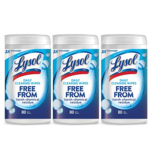 - Lysol Daily Cleansing Wipes, 3x80ct,Packaging May Vary