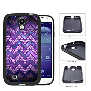 Mini Turtles In Chevron Pattern Purple Rubber Silicone TPU Cell Phone Case Samsung Galaxy S4 SIV I9500