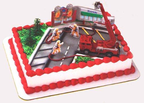 Fire Truck Cake Decorating Kit (Firefighter Cake)
