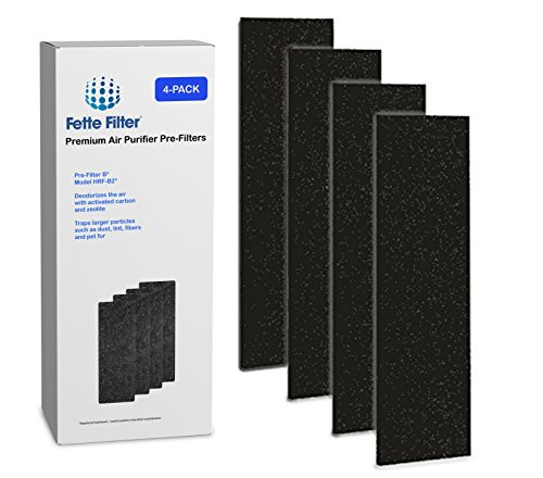 4-Pack - Fette Filter Air Purifier Pre-Filters. Compatible with HRF-B2 Filter B.