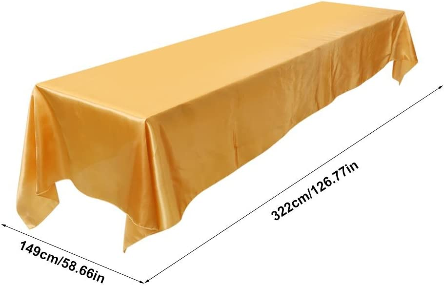 147,3/x 320/cm en forme de rectangle lavable Nappe Nappe r/ésistant aux taches Banquet f/ête de mariage D/écor Red