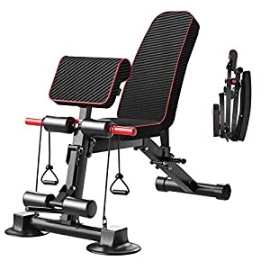 Adjustable Weight Bench – Utility Weight Benches for Full Body Workout, Foldable Flat/Incline/Decline Exercise Multi-Purpose Bench for Home Gym