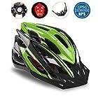Shinmax Bike Helmet, CPSC Certified Adjustable Light Bike Helmet Specialized Cycling Helmet Men&Women Mountain Bike Helmet with Visor&Rear Light