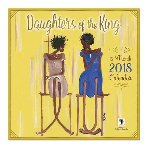 """Search : African American Expressions - 2018 Daughters of the King 16 Month Calendar (12"""" x 12"""") WC-169"""
