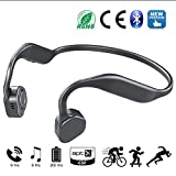 Bone Conduction Headphones,Afonno,Sweatproof, Safe.Wireless Bluetooth Headset,Outdoor Activities, Such as Jogging, Driving and Bicycling. With Mic,High Definition Stereo and Memory Alloy.(Grey)