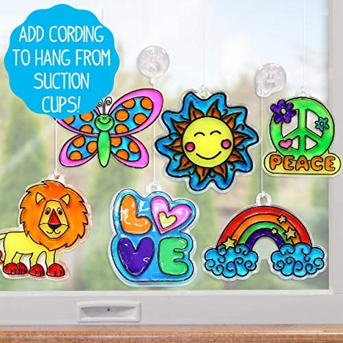 DIY Acetate Sheet Window Paint Suction Cups & More Assorted Colors