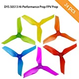DYS 50513 Hi-Performance Prop FPV Props CW/CCW, 5-inch 3-Blade Propellers for Sized 200 210 230 250 320 FPV Racing Quadcopter Multicopter (12Pairs=24pcs )
