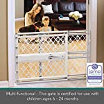 "North States Mypet Paws 40"" Portable Pet Gate: Expands & Locks In Place with No Tools. Pressure Mount. Fits 26""- 40"" Wide (23"" Tall, Light Gray) 11"