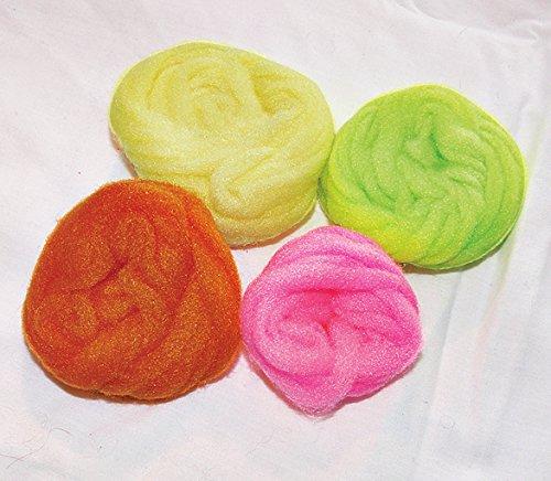 Glo Bug Yarn for Fly Tying or Tying Flies (Yellow)