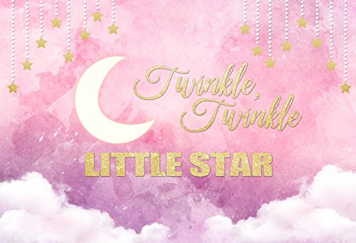 - Yeele 6x4ft Birthday Backdrop Pastel Twinkle Twinkle Little Star Moon Party Banner Photography Background Newborn Boy Baby Shower Portraits Photo Booth Video Shooting Vinyl Photocall Studio Props