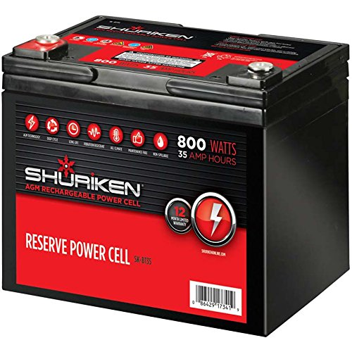 Shuriken SK-BT35 12-Volt High Performance AGM Power Cell Battery for Systems Up To 800-Watts