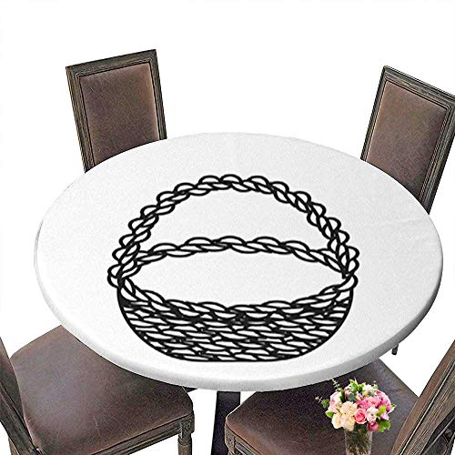 Natural Round Tablecloth,line Beautiful Hamper to Save Food Celebration for Home Use Multi Colors & Sizes Machine Washable up to 31.5