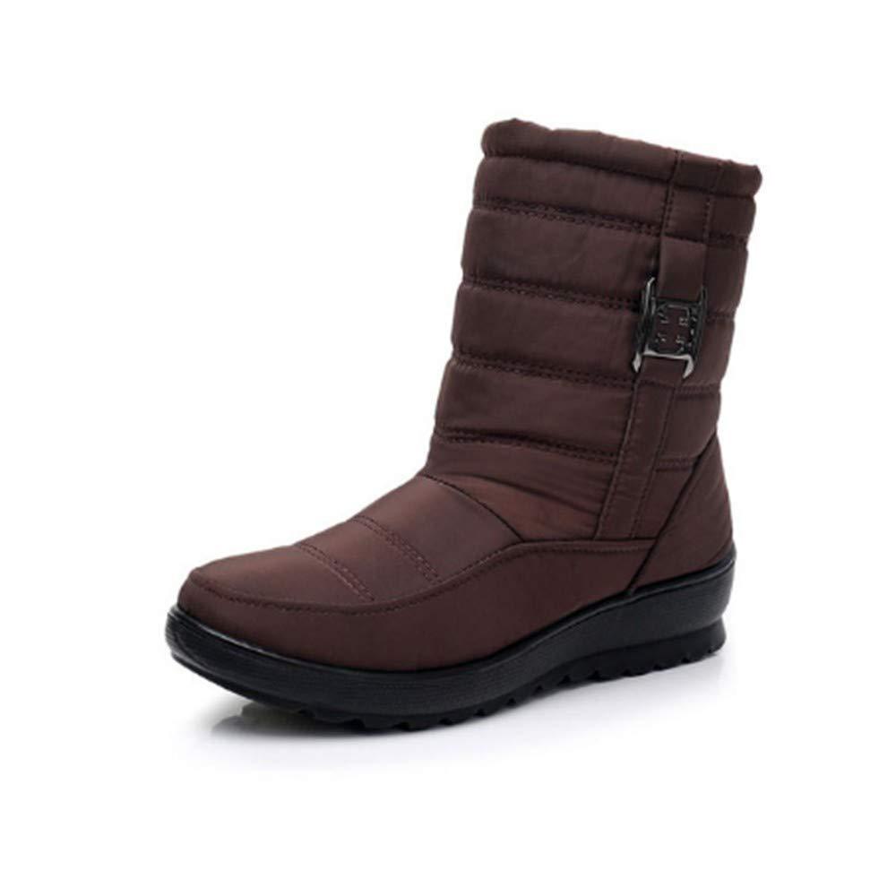 FMWLST Stiefel Frauen Stiefel Winter Winter Winter Warm Wasserdicht Mutter Schuhe Damen Stiefeletten Schnee Stiefel Damen Wasserdicht Damenschuhe  067c4f