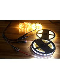 2 Pack 1 hembra a 4 Macho Cable divisor de 5.5 mm x 2.1 mm CCTV DC Fuente de alimentación