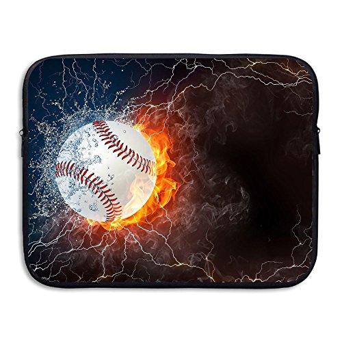Briefcase Baseball (Mr.Roadman Laptop Sleeve Bag Baseball Ice And Fire Briefcase Sleeve Bags Cover Computer Liner Case Waterproof Computer Portable Bags)