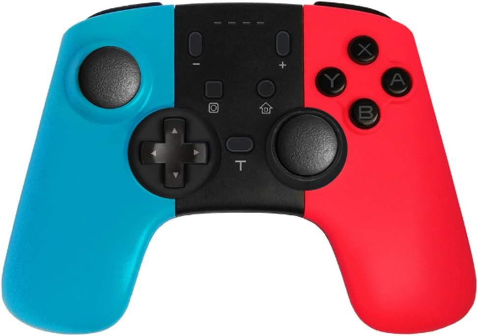 YFish Mando Pro Inalámbrico Compatible con Nintendo Switch, Control Remoto Pro Gamepad para NS Consola de Reemplazo Cómodo Jugar con Batería Dura Recargable (Azul y Rojo)
