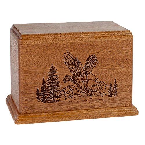 Wood Cremation Urn - Mahogany Eagle