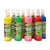 Creativity Street CK-8563 Glitter Glue, Assorted Metallic Colors, 8 oz., 8 Bottles