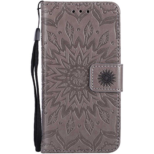 Price comparison product image Case Galaxy J5 2017,  Bear Village Leather Case Inner Stand Function Card Slot Flip Cover,  Flip Phone Protective Case for Samsung Galaxy J5 2017 ( 2 Gray)