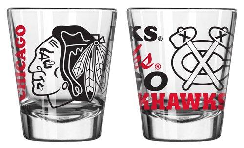 Boelter 2-Ounce Spirit Shot Glass - NHL Chicago Blackhawks (Best Spirits For Shots)