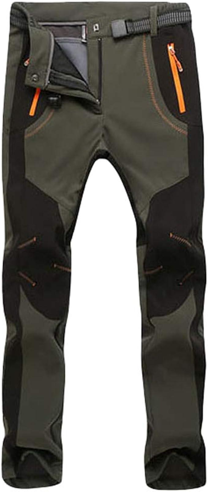 Cayuan Pantalón de Senderismo Invierno Acolchado Pantalones de Escalada Calentar Impermeable Ropa Deportiva