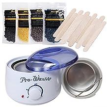 Bluezoo Waxing Kit Electric Wax Warmer with Hard Wax Beans and Wax Applicator Sticks
