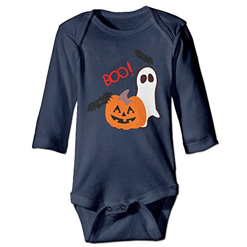 Halloween Clipart Autumn Long Sleeve Infant Baby's Toddler Climb Jumpsuit | Crawling Clothes (Clipart Halloween Ghost)