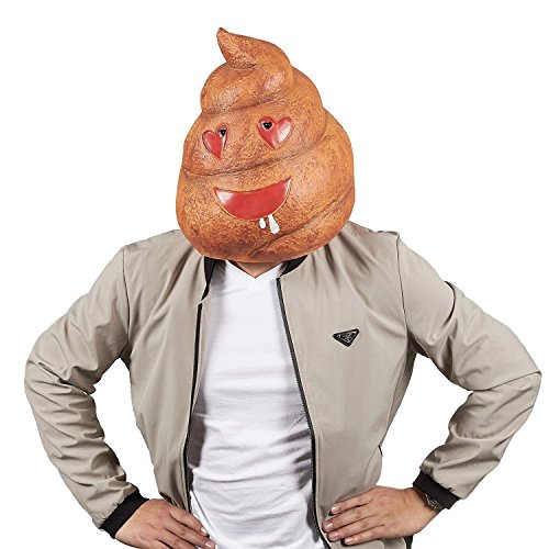 Poop Emoji Head Mask - Poop Mask for
