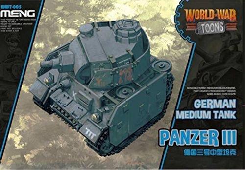 War Panzer German (Meng World War Toons German Medium Tank Panzer III Q Edition Plastic Kit #WWT005)