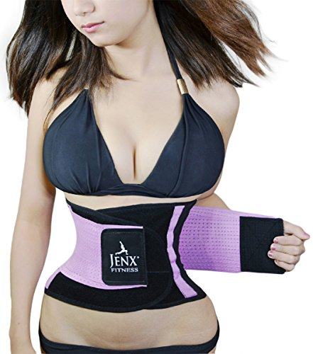 Jenx Fitness Unisex Waist Trimmer, Purple,  Small (Best Way To Tighten Belly Fat)
