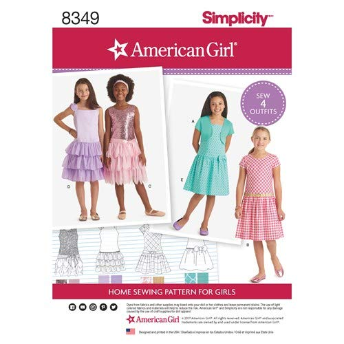 Simplicity Pattern 8349 American Girl Child's Dress and Knit Shrug Sewing Pattern