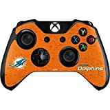 Skinit NFL Miami Dolphins Xbox One Controller Skin - Miami Dolphins Distressed- Orange Design - Ultra Thin, Lightweight Vinyl Decal Protection