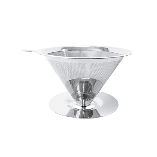 Pour Over Filtro de café, acero inoxidable Cono Cafetera ...