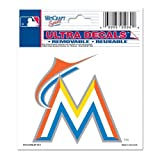 Miami Marlins Official MLB 3''x4'' Car Window Cling Decal by Wincraft