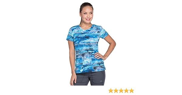 7f246b343b8 Amazon.com: Dickies Dynamix Womens Scrub Top Galactic Granite DK723 GLGR  Sizes XS - XXL: Clothing