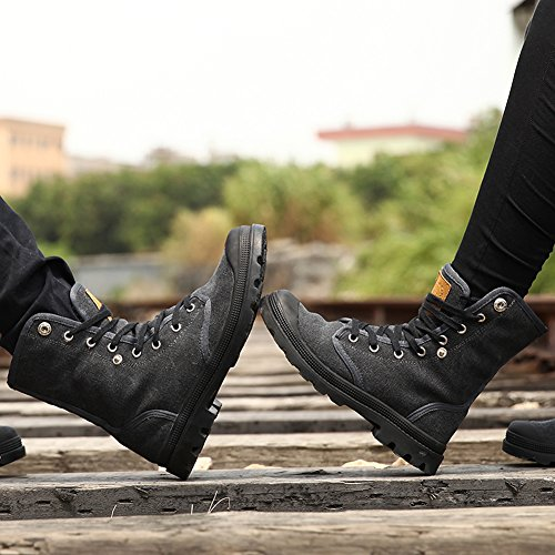 Canvas and Snow Women Trekking GOMNEAR Couple and High Warm Top Black shoes walking boots Men ZwPx4wfzdq