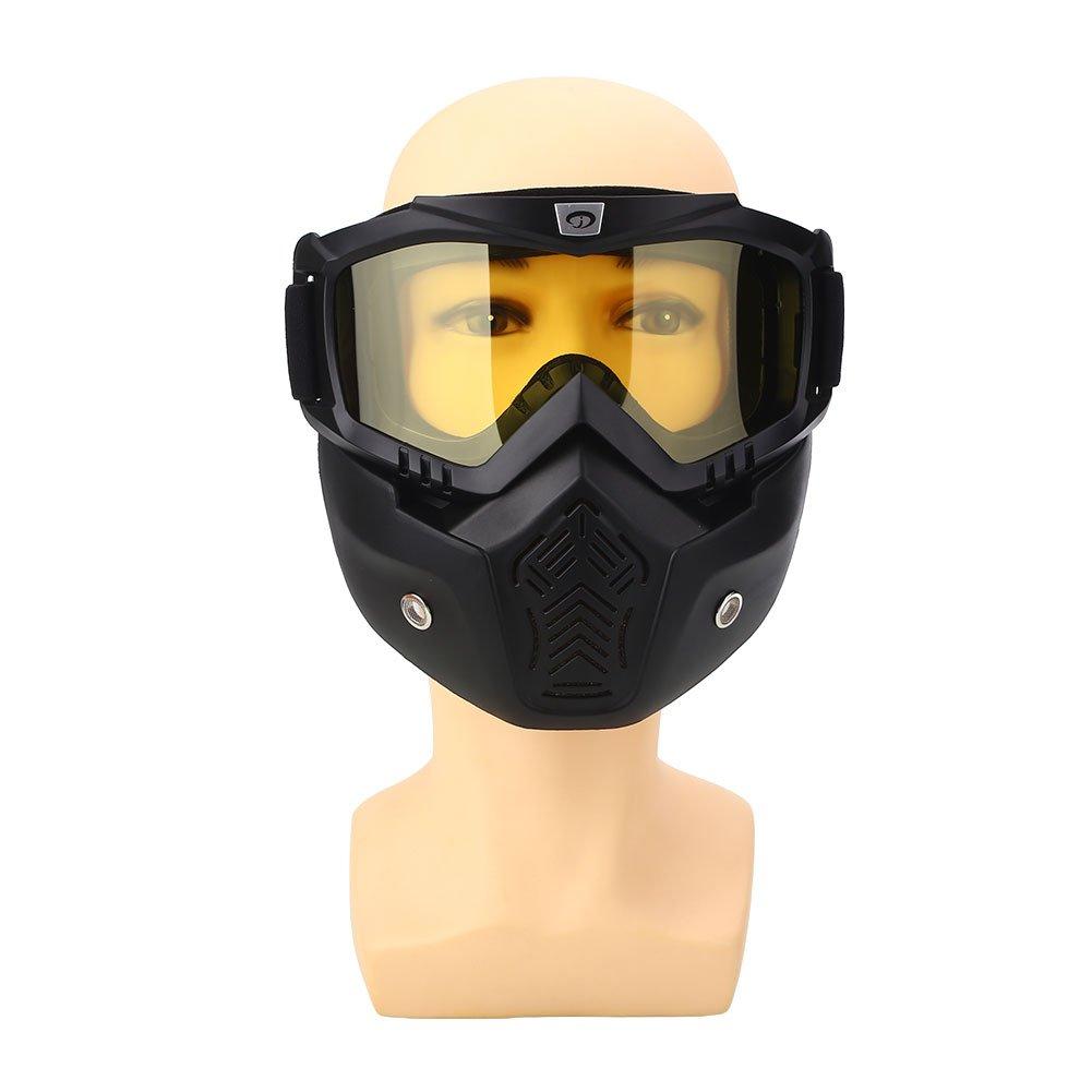 Hanbaili Motorradbrillen Brillen Maske Abnehmbare, winddichtes Radfahren