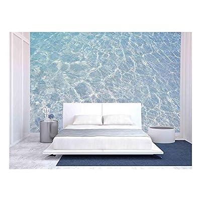 Marvelous Print, Clear Blue Ripple Aqua Texture, Original Creation