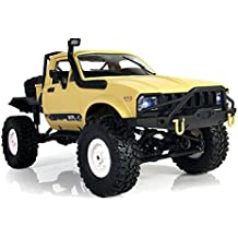 YIKESHU C-14 Remote Control Off-Road Racing Vehicles 1:16 2.4G 2CH 4WD Off-road Kids RC Toy Climb Semi Truck RTR Trailer(Yellow)