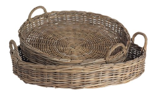Normandy Low Round Basket, Set of 2