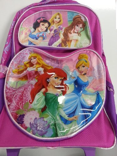Large Rolling Backpack - Disney Princess Lovely and Sweet New Bag 629281 B00EAA900C