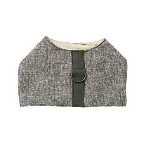 Durable & Soft Linen Dog Harness For Small Dogs Handmade by Hide & Drink :: Smoke - Joque Harness