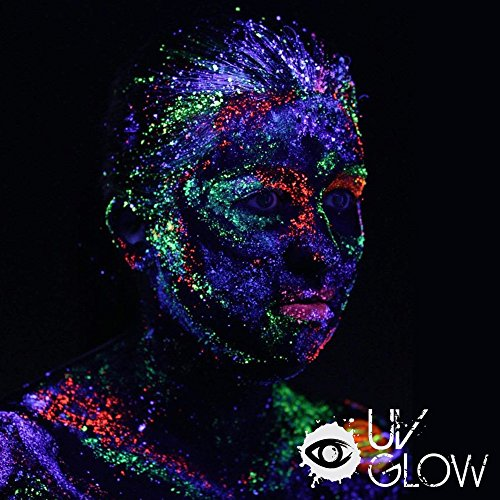 Fluorescent Light Glowing Red: UV Glow Blacklight Face And Body Paint 0.34oz