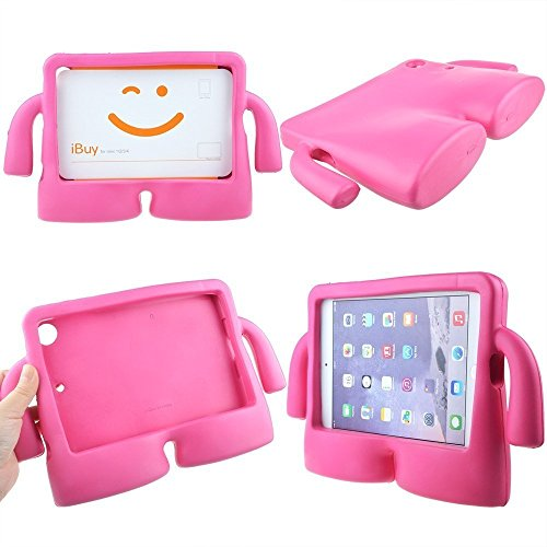 Lioeo iPad Mini Case for Kids iPad mini 4 Case with Handle Stand Shock Proof Cover Lightweight EVA Foam Protective Cases and Covers for Apple iPad Mini 4 3 2 1 7.9 inch (Hot Pink) by Lioeo (Image #6)