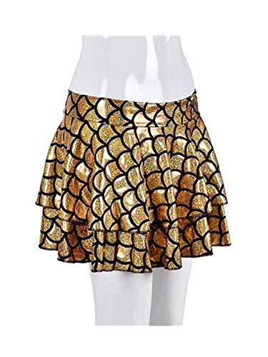 No Limits - Mini Falda para Mujer con diseño de Sirena Dorado ...