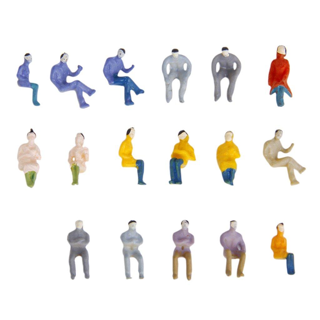 100 Piezas de Modelos de Personas Sentadas Modelos de Paisaje del Tren 1:100