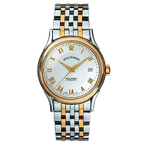 Revue Thommen Men's 20002-2142 Wallstreet Tradition Analog Display Swiss Automatic Two Tone Watch