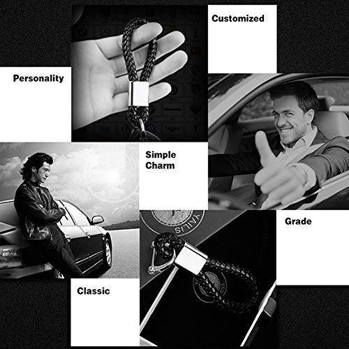 BearFire Car Logo Emblem Key Chain Key Ring Metal Alloy BV Calf Style Black Leather Gift Decoration Accessories Mazda