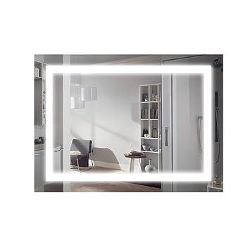 ansche 800600mm 6000k miroir salle de bains avec eclairage 18w ensemble grand miroir - Miroir Mural Salle De Bain