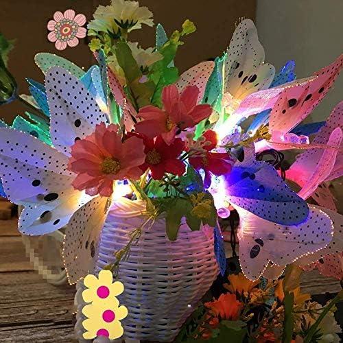 Solar Butterfly Lichterketten, 5M 20LED Solar Lichterketten wasserdichte Schmetterling Lichterketten Garten Außenleuchten für P Geschenk